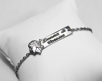 """Bracelet """" Donna di Corsica"""" silver chain 925"""