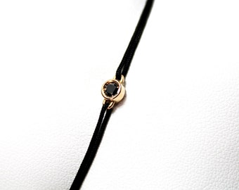 Black Diamond and Pink Gold Bracelet