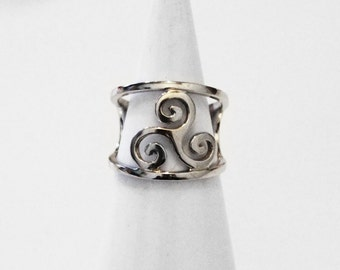 Ring in 925 sterling silver TRISKELION