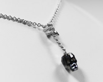 Necklace skull and snake