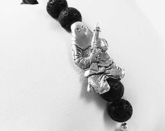 Bracelet perles et Ribellu argent 925