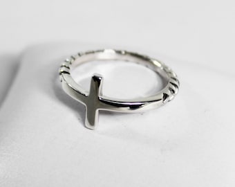 Silver Cross Ring 925