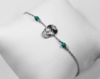 """Silver bracelet """"Dia de los muertos"""""""