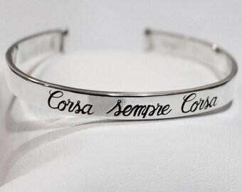 """Bracelet """"Sempre Corsa Corsa"""""""