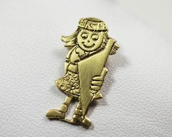 Pendant Child little girl Corsican Gold