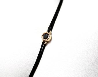 Black Diamond and Pink Gold Bracelet