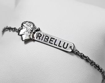 """Bracelet """"RIBELLU"""" Silver Channel 925"""