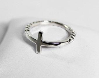 Silver Cross Ring 925