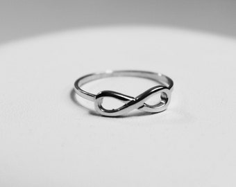 750 white gold infinity ring, yellow, pink