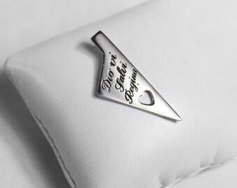 Hand engraved Silver Corsica pendant