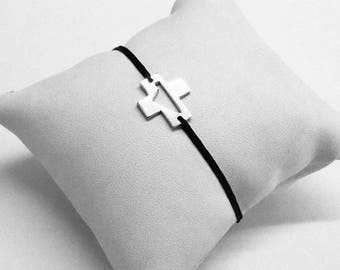 Corsica Silver Cross Bracelet 925 Rodhié