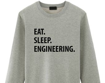 Engineering, Engineering Sweater, Gift For Engineering Student, Eat Sleep Engineering sweatshirt - 1054