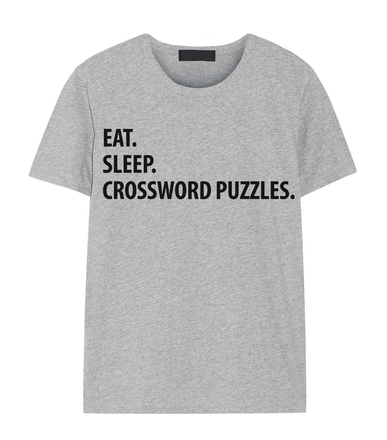 e97ac3e10 Crossword Puzzle T-Shirt Eat Sleep Crossword Puzzle shirt   Etsy