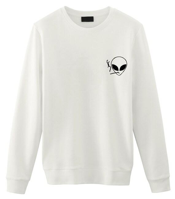 6c2111f05bac Smoking Alien Sweater Tumblr Sweatshirts sweater Grunge