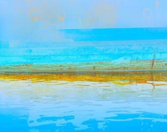 Lake Powell Elegy, archival pigment print, blues, summer colors, waterline