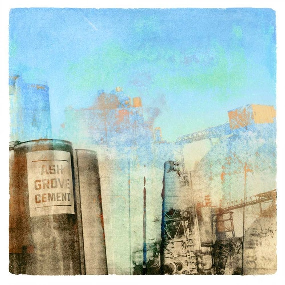 Ash Grove Cement for Maxfield Parrish, transfer print