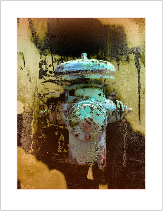 Rensselaer in Green, limited edition fire hydrant print