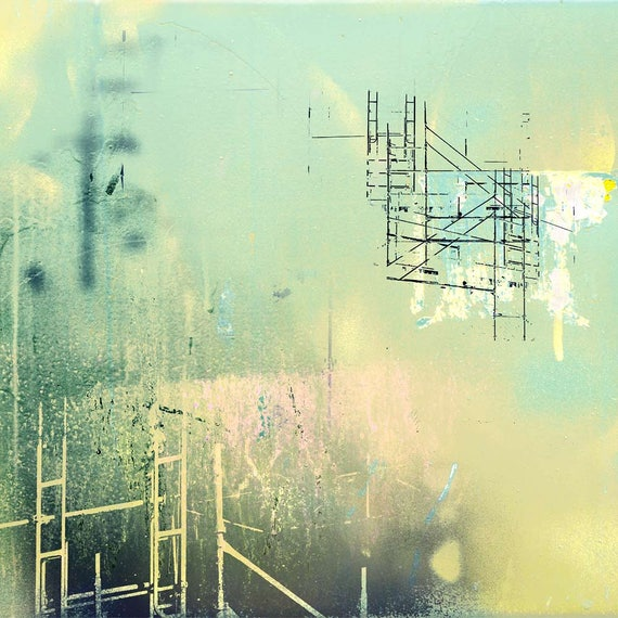 Dream Scaffold,  contemporary abstract, limited edition print