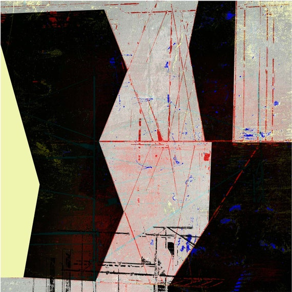 On the High Beam,contemporary abstract, limited edition print