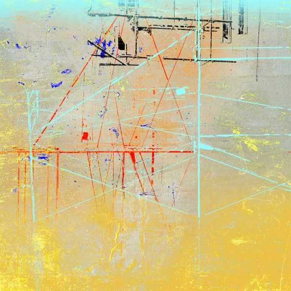The Sky is Not Always Above You, contemporary abstract, limited edition print