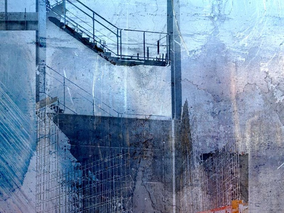 The Blue Stair, limited edition fine art print