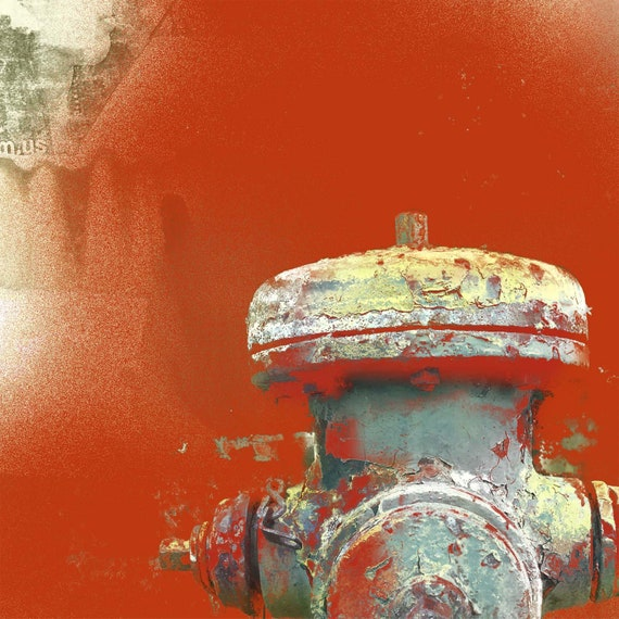 Rensselaer Against the Inferno, limited edition fire hydrant print