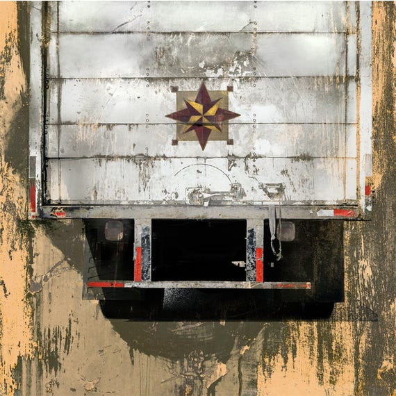 Backs of Trucks of North America 1,truck art,fine art print, limited edition, industrial art, urban decay, steampunk,streetart, urban decay