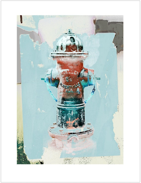 Mueller Fire Hydrant Print, limited Edition Fine Art Print