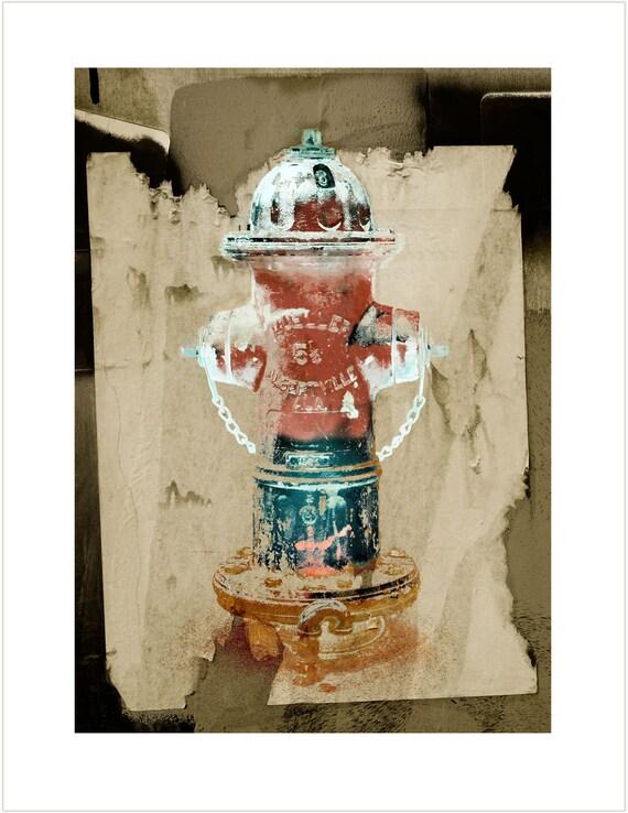 Mueller Fire Hydrant Print 2, limited Edition Fine Art Print, fireman art
