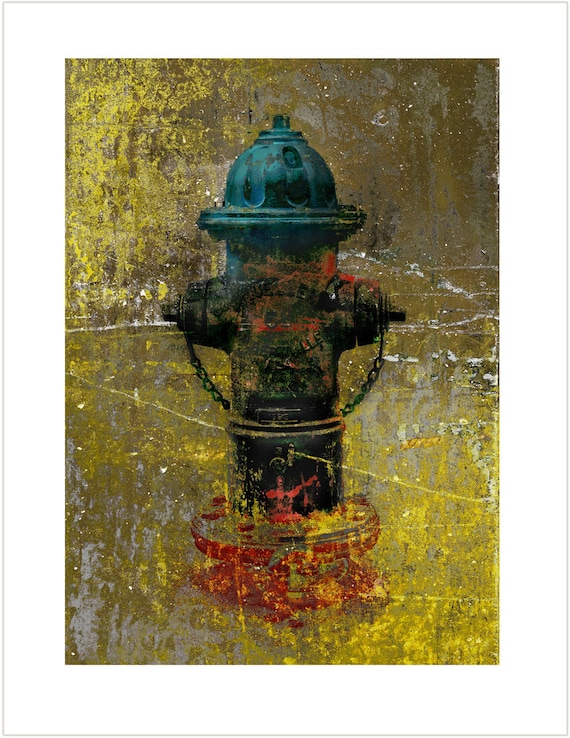 Mueller in Chaos, limited edition fine art fire hydrant print