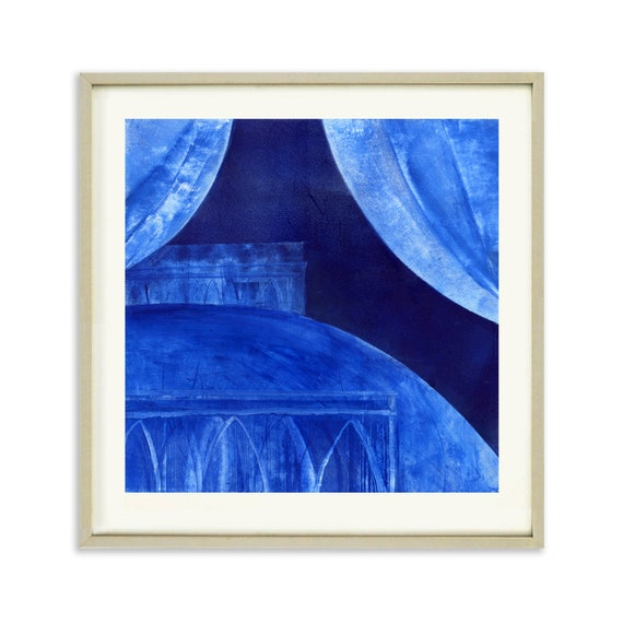 King's Bed, Limited Edition Print of a Painting by Iskra, Sleep Studies