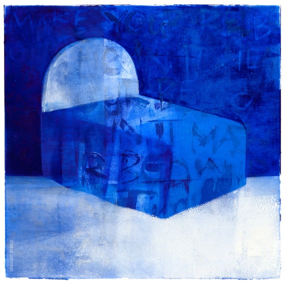 The Dream, Blue Bed Painting by Iskra, sleep studies