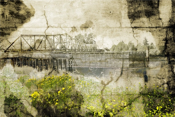 Pastorale No.7, The Bridge with Golden Flowers, limited edition fine art print