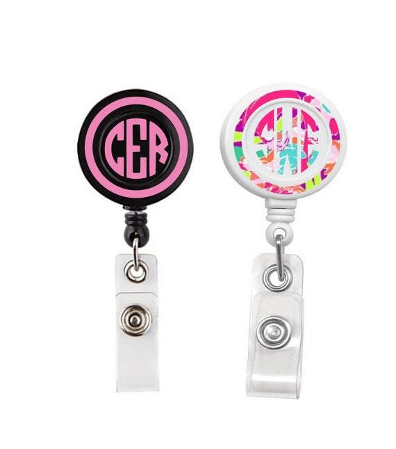 Monogrammed Badge Reel Personalized Badge Reel
