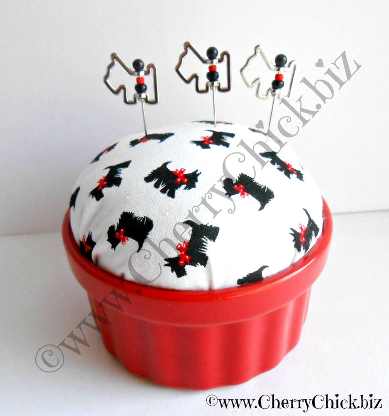 Scotty Dog Pin cushion  Scottie Dog Pincushion  Gift for image 0