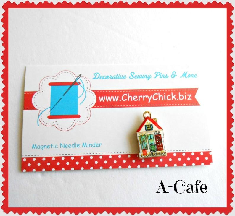 House Needle Minder  Tiny House Needle Magnet  Cupcake A-Cafe