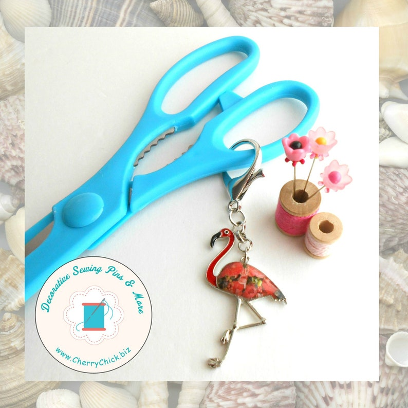 Flamingo Scissors Fob  Large Scissors Fob  Gift for Quilter A - Flamingo