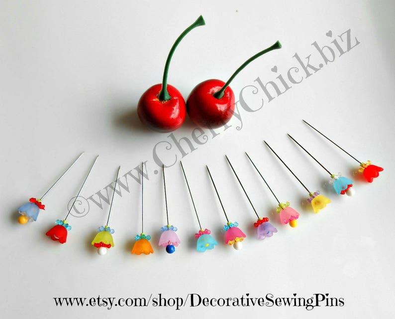 Bulk Decorative Sewing Pins  Pretty Pins  Scrapbooking Pins image 0