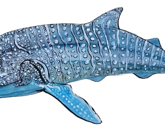 Whale Shark, Printable Art, Instant Digital Download Art, Modern art prints, Art, Prints, Printable Artwork, Art by Kikajo