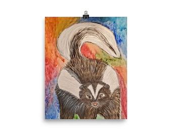 Skunk Art Poster