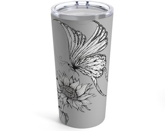 Butterfly and Sunflower Tumbler 20oz