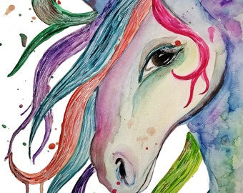 Horse, Instant Digital Download, Modern art prints, Art, Prints, Printable Artwork, Art by Kikajo