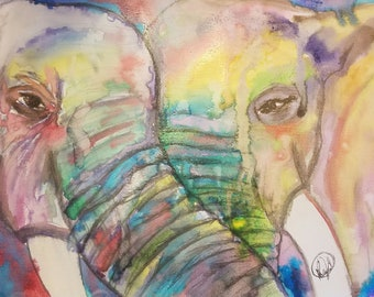 Elephants , Printable Art, Instant Digital Download, Elephants Watercolor, Art, Prints, Printable Artwork, Art by Kikajo
