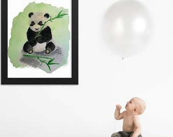 Baby Panda, Instant Digital Download, Modern art prints, Art, Prints, Printable Artwork, Nursery, Art by Kikajo