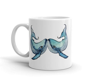 Blue Whale Mug,  Coffee mug, Personalized mug, Custom mug, unique mug, coffee mug, coffee cup, mugs, dishwasher safe mug