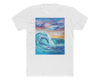 Ocean Waves Men's Cotton Crew Tee
