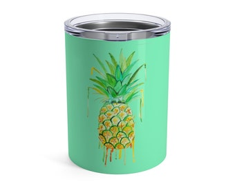 Pineapple Tumbler, Tumbler, 10oz or 20oz
