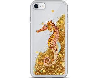 Seahorse Liquid Glitter Phone Case