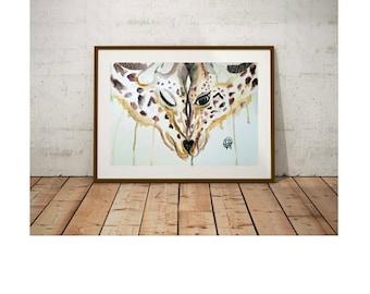 Inseperable, Giraffes, Instant Digital Download, Modern art prints, Art, Prints, Printable Artwork, Art by Kikajo