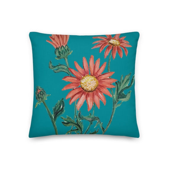 Daisies Floral Pillow